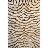 Earth Soft Zebra Brown Rug
