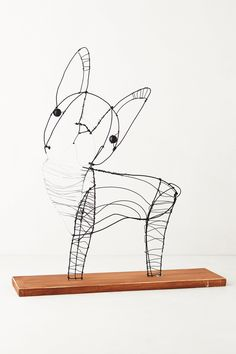 french bulldogs, wire dog, anthropologie, bulldog thing, mccane, dog sculptur, kaitlyn, boston terrier, wire sculptures