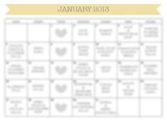 January 2013 Meal Plan Calendar & Grocery List  by kearydee, $5.00