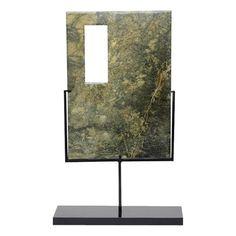 Rectangular Jade Sculpture on Stand - $275