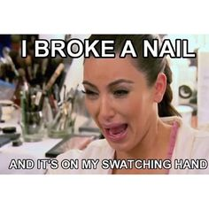 NOOOOO!!! #nailpolishaddict #nailartproblems #swatchnail #nailmeme