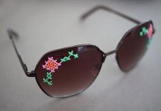 embroidered sunglasses tutorial