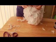 como hacer pompones de papel para decorar fiestas ... súper fácil !