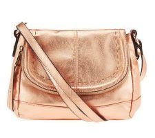 B. Makowsky Laurel Glove Leather Flap Top Crossbody Bag