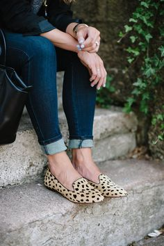 leopard loafers.