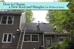 How to choose a roofer, roof and shingles. And what you as a homeowner should know! by Pretty Handy Girl