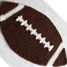 Football Placemat free crochet pattern