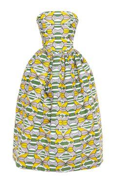 Genziana Wax Bustier Dress by Stella Jean