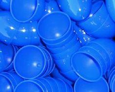 Unassembled Blue Plastic Easter eggs (12/PKG): Toy Connection
