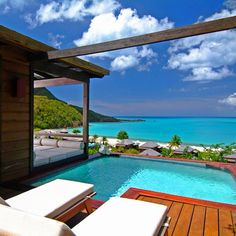plunge pool, honeymoon, antigua, resorts, bays, hermitag bay, hotel, travel, place