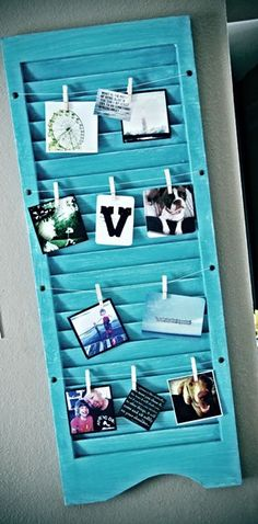 Overlooked Items That Can Be Used as Apartment Decor - Vintage Shutter