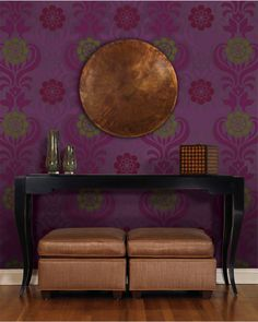 Wallpaper from the HGTV HOME by Sherwin-Williams collection.