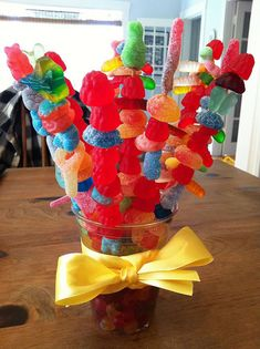 Candy Skewers Dessert - Cute idea
