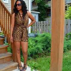 thrift and style a leopard print romper