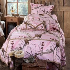 Then I Can Wear My Matching Hoodie and No One Can Find Me - Realtree Pink Camo Bedding Set #Realtreecamo #camobedding