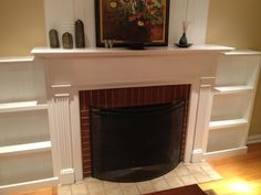 fireplac facelift, bookcases, dine room, home projects, fireplaces, fireplace mantels, builtin bookcas, shelv, ana white