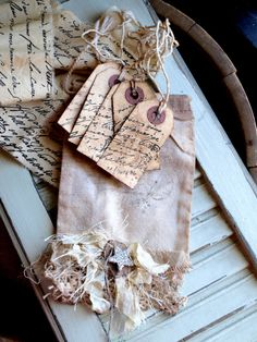 Muslin Bag with tags