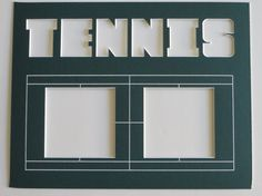 Tennis Court Custom Sports Photo Mats Decor, fits 11x14 frame, Tennis Picture Personalized Tennis Coach Team Gifts, Unique