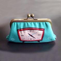 Retro Alarm Clock Clutch by Girl by Aileen
