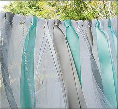ribbon garland, parti ribbon, bridal showers