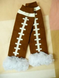 Football Leg Warmers with Ruffle Ruffled by PrincessEllasBoutiqu, $7.50  https://www.etsy.com/listing/164734859/football-leg-warmers-with-ruffle-ruffled?ref=sr_gallery_29&ga_order=date_desc&ga_view_type=gallery&ga_page=19&ga_search_type=all