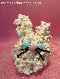 Easter Bunny Cake Popcorn Balls - fun for the kids to make! #Easter thanks @momsandmunchins