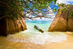 Small Beach La Digue Islands by Alban Henderyckx#Repin By:Pinterest++ for iPad#
