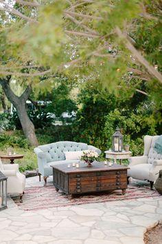 Vintage Garden Party loung area, coffee tables, lounge areas, wedding designs, outdoor rooms, outdoor loung, floral designs, sitting areas, seating areas