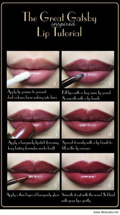 Gatsby lip tutorial - BeaLady.net