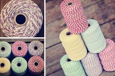 Love this colored twine, so many projects I could use it in.