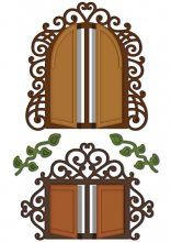 * NEW * Heartfelt Creations Decorative Chateau Gate Die