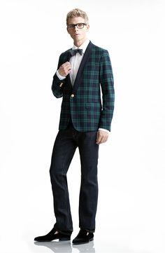 Black Tie Optional: Gant Rugger 'Black Watch Tux' One Button Blazer #Nordstrom #Men #Holiday