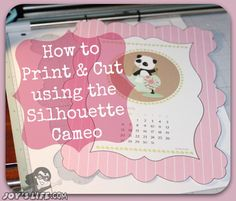 How to Print and Cut using the Silhouette Cameo.  Great tutorial using the fill/pattern before cutting