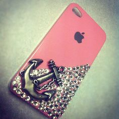 Silver Anchor IPhone 4 Case on Etsy