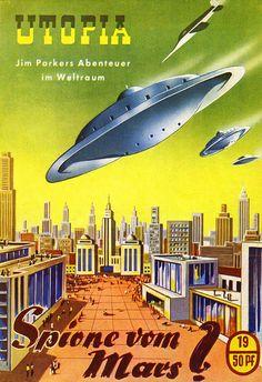 Martian Utopia ( flying saucer / space ship / futurism / retro future / science fiction )