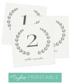 Free Table Numbers Printable