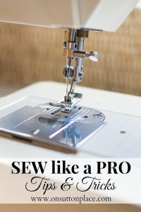 Sewing Tips for Prof