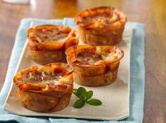 wonton wrappers, muffin tin meals, lasagna cupcak, cupcakes, muffin tins, cupcake recipes, dinner recipes, pasta sauces, fun