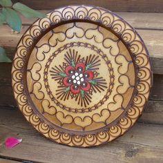 Lovely Polish folk art platter by ThingsLostAndFound on Etsy