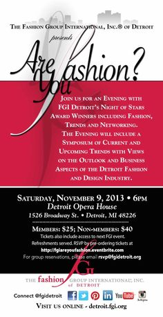 Fashion Group International Detroit - Are you Fashion? Event: November 9, 2013.