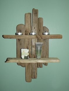 Driftwood Shelves.  £62.50 6250, country cabins, bathrooms, driftwood shelves, woman shoes, children, camps, fathers, driftwood shelving
