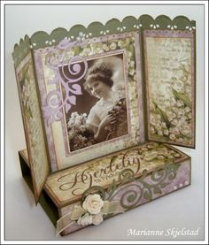 Pop up easel box with gate fold card -see videos to make the base of the card in this category.