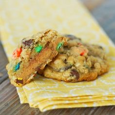 Peanut Butter Cup Monster Cookies
