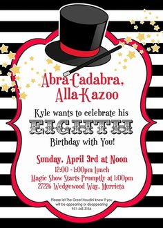 Magical birthday party invite