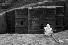 Lalibela, Ethiopia.  Rock-cut cathedral