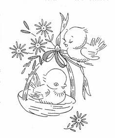 hand embroideri, embroideri pattern, vintage embroidery patterns, vintag embroideri, vintage birds