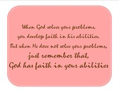 Its all about FAITH!
