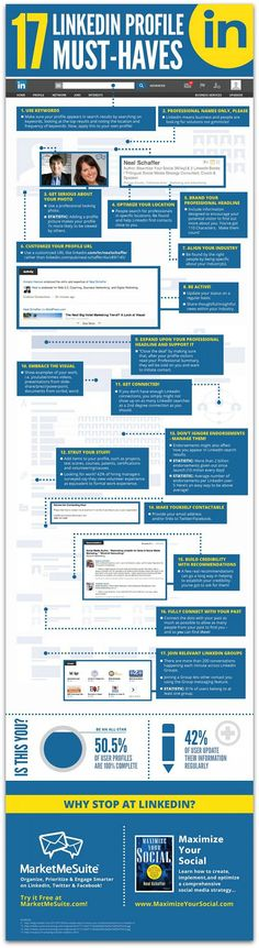 Here are some tips to be sure your LinkedIn profile is fully optimized. This is a great tool to use when you're job hunting.