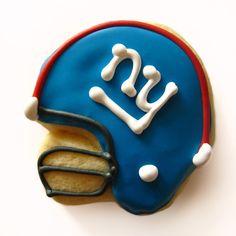 Superbowl Football Helmet Cookies