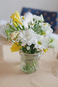 mason jar flowers!!